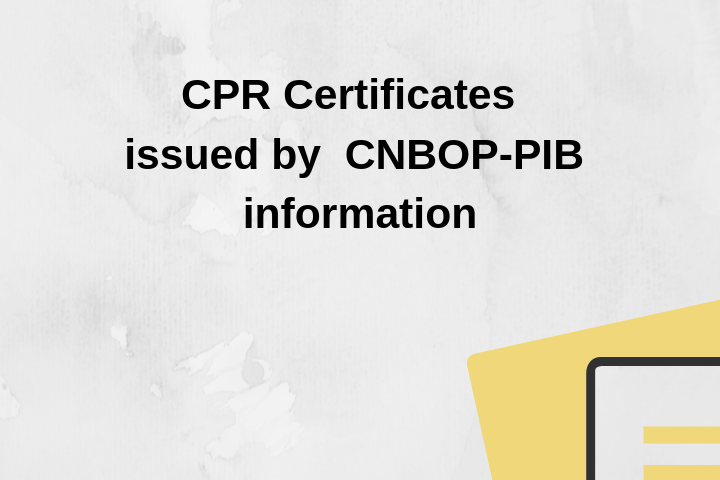 CPR Certificates issued by CNBOP-PIB information