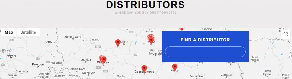 Distributors map