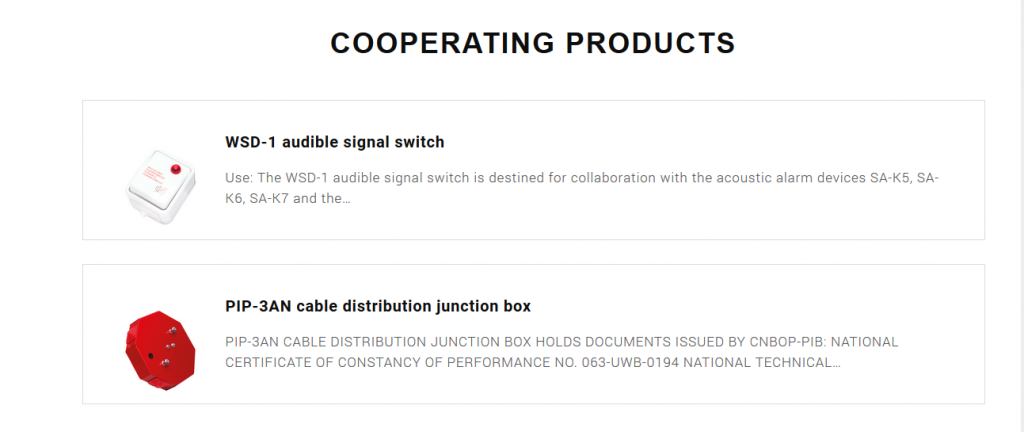 Cooperating products