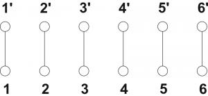 Schemat elektryczny puszki PIP-2AN/Przelotowa/6x4mm2