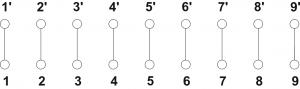 Schemat elektryczny puszek PIP-2AN/Przelotowa/9x4mm2 oraz PIP-2AN/Przelotowa/9x6mm2