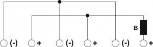 Schemat elektryczny puszki PIP-2AN z bezpiecznikiem