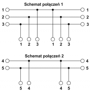 Schemat elektryczny puszki PIP-5A